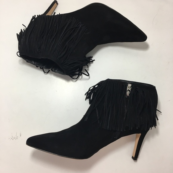 2dc2cd022d1419 Sam Edelman Kandice Fringe Ankle Boots High Heels.  M 5a462db750687c68131093b9